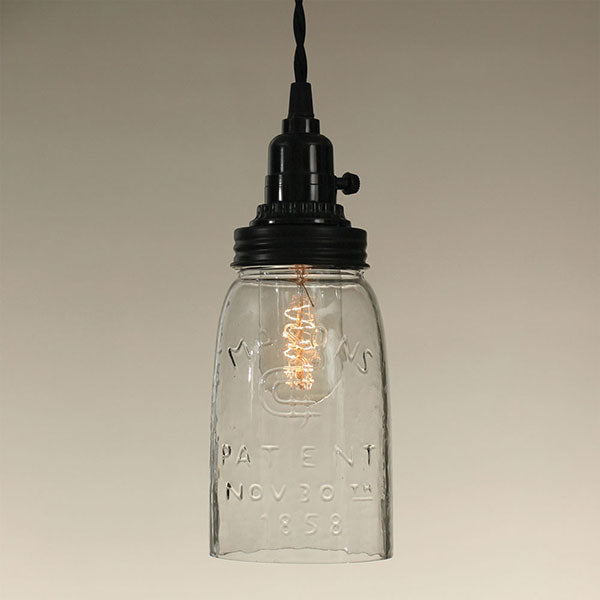 Quart Mason Jar Pendant Lamp