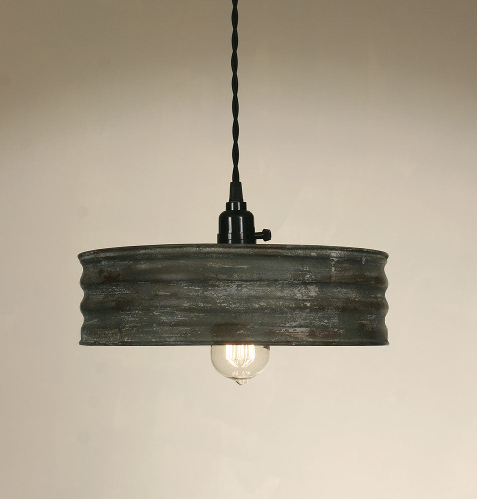 Vintage Inspired Grain Sifter Plug Light Fixture