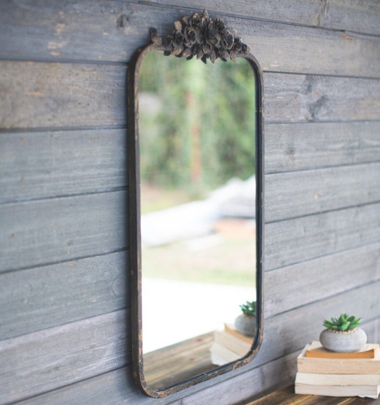 Industrial Rose Mirror