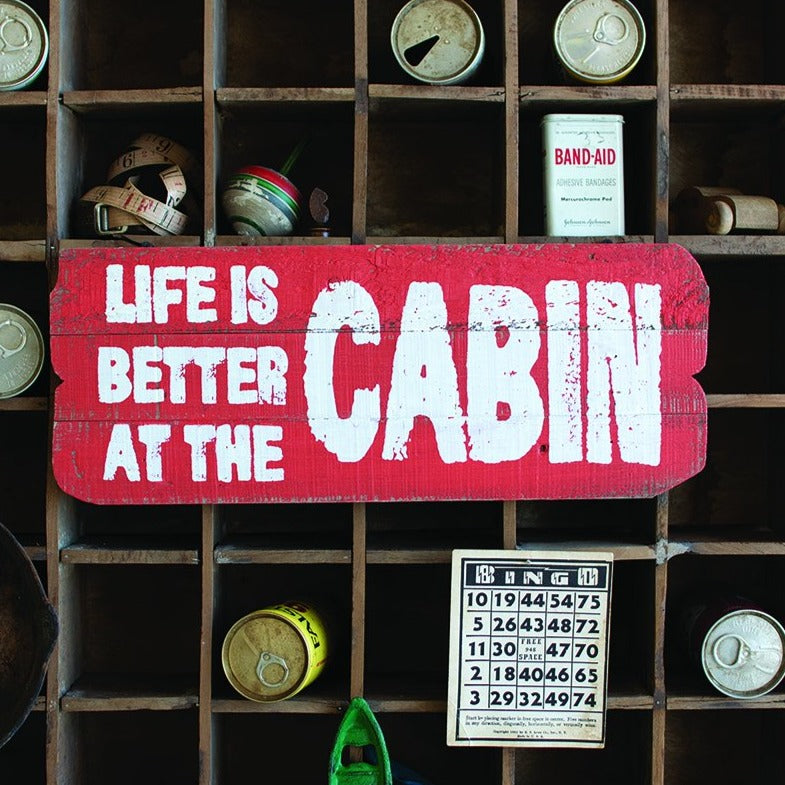 Reclaimed Cabin Wall Sign
