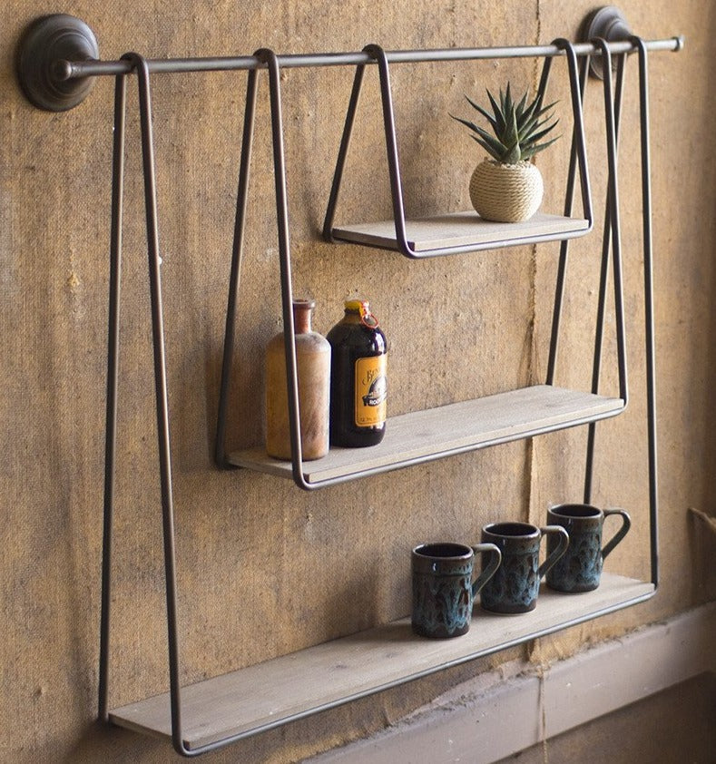 Primitive Triple Hanging Shelf
