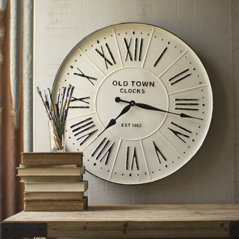Enamel Old Town Clock