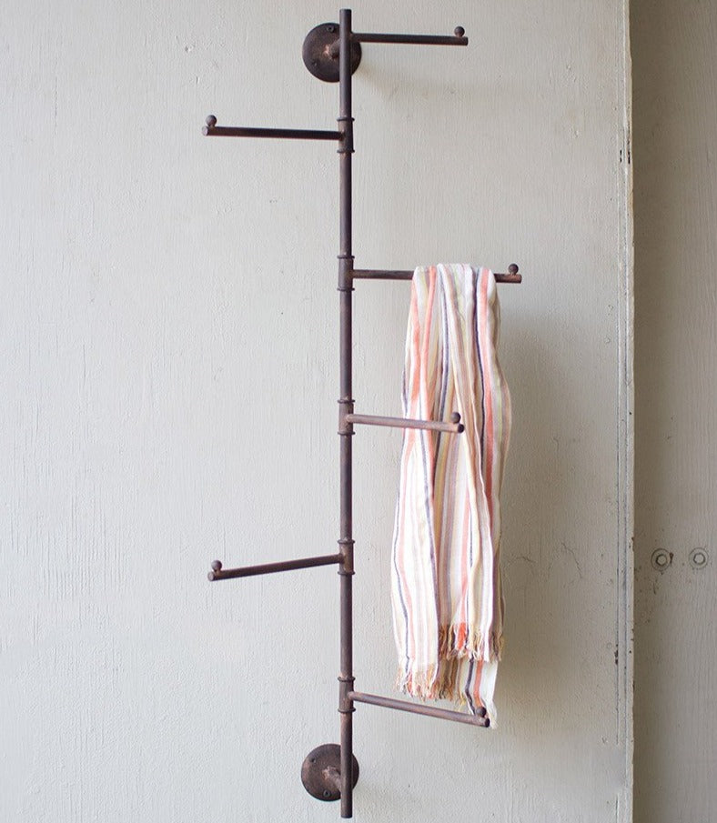 Industrial Swivel Towel Rack