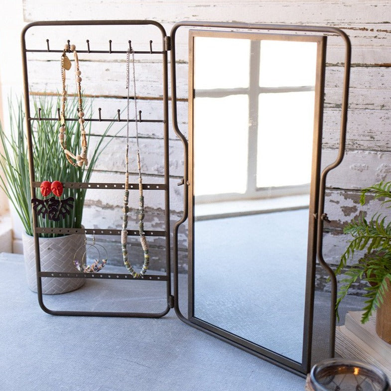 Industrial Vanity Mirror and Organizer