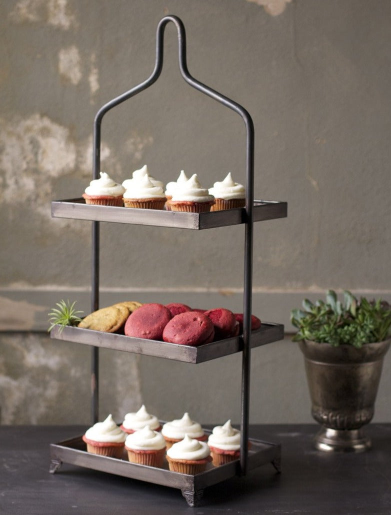 Galvanized Three-tiered Tray