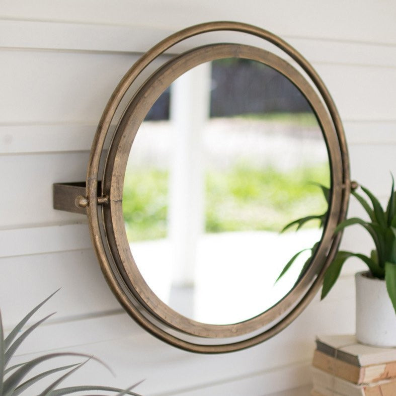 Adjustable Round Wall Mirror