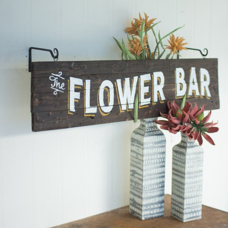 "Charming ""Flower Bar"" Sign"