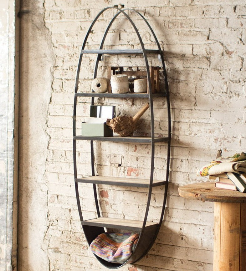 Industrial Oval Wall Shelf