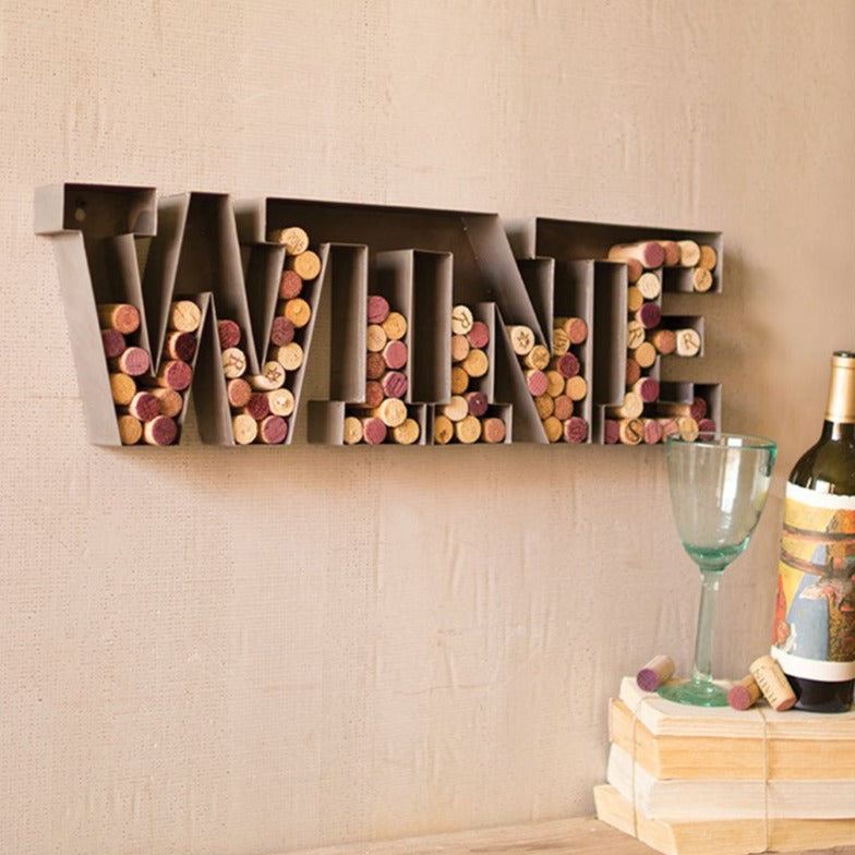 "Rustic ""Wine"" Cork Holder"