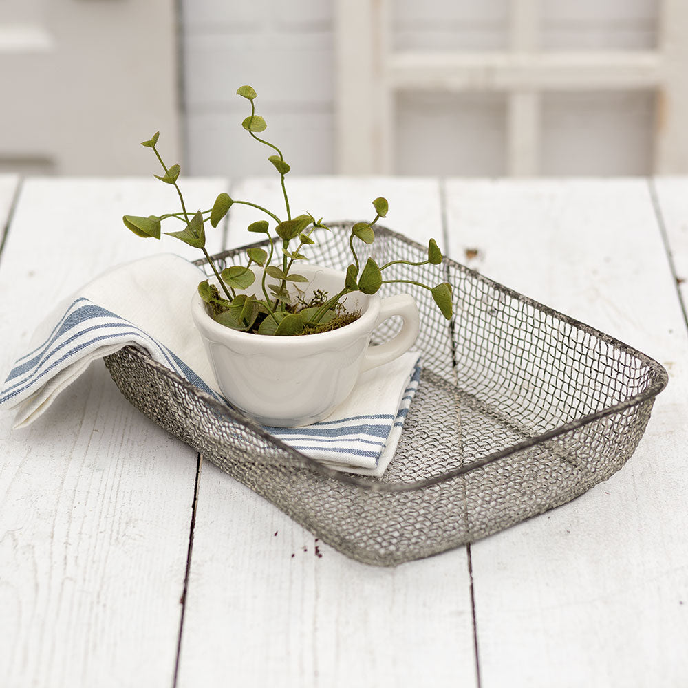 Set of 2 Charming Emma Woven Wire Baskets