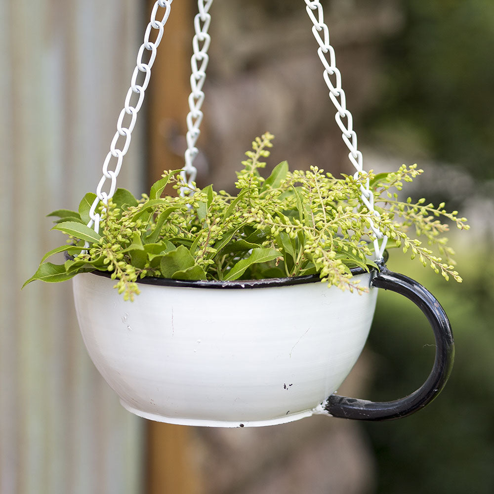Coffee Cup Hanging Planter
