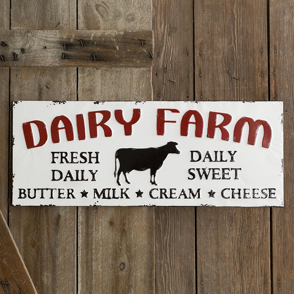 "Metal ""Dairy Farm"" Sign"