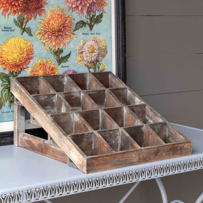 Wooden Seed Packet Display