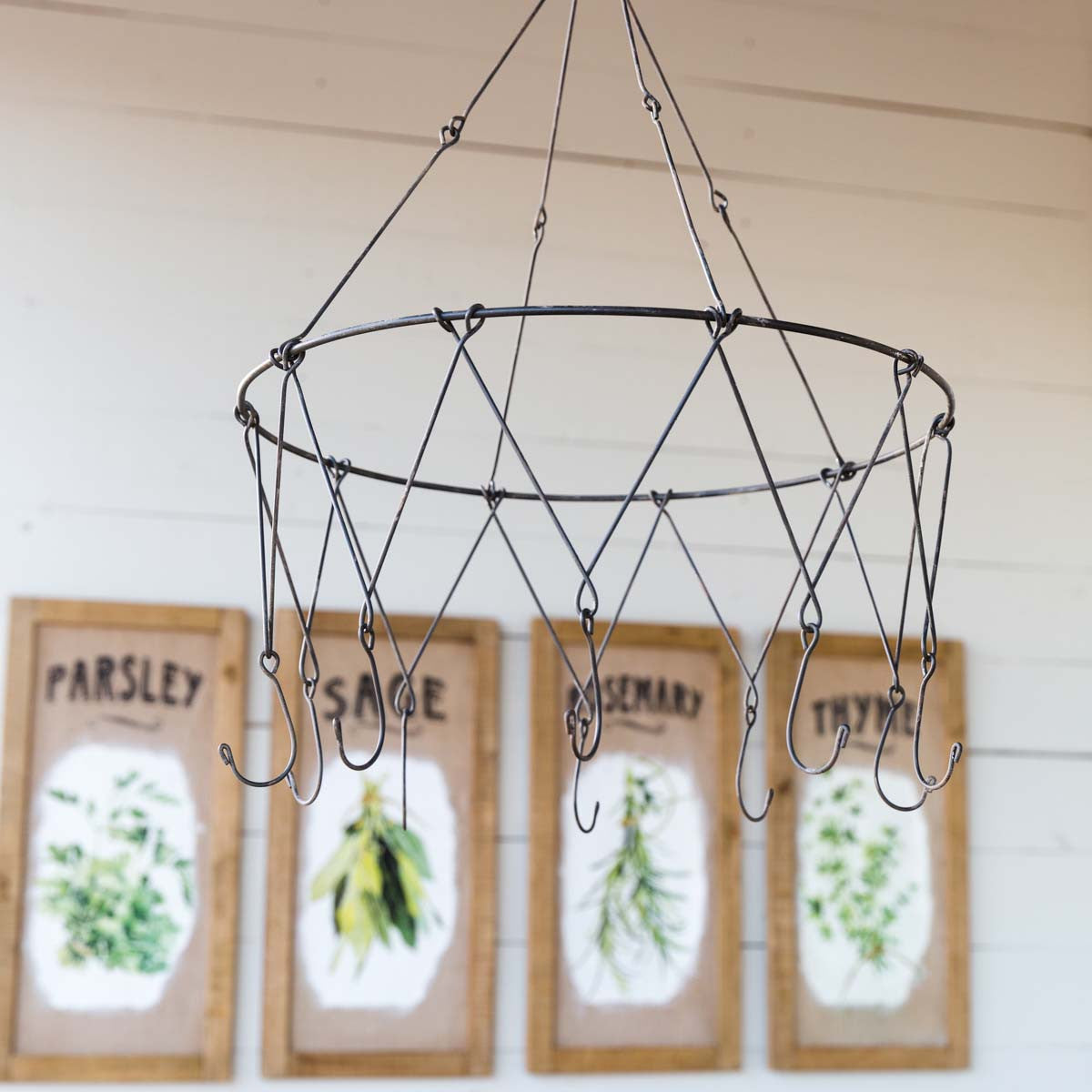 Hanging Metal Herb Drying Rack