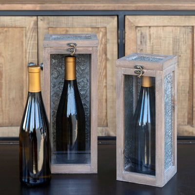 Wine Bottle Memory Box, Small