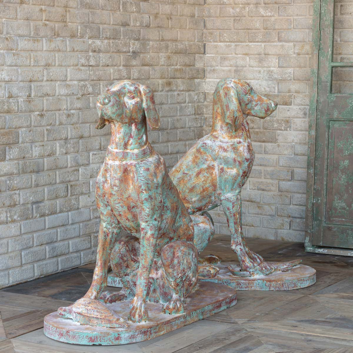 Cast Iron Hound Pair - Set of 2