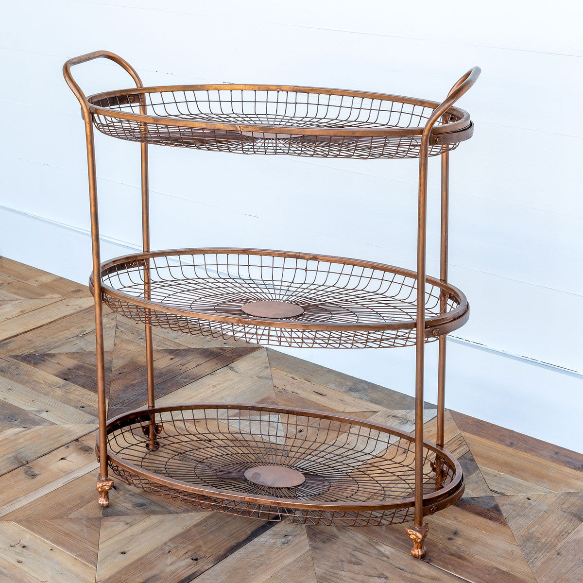 Wire Basket Tiered Display Rack