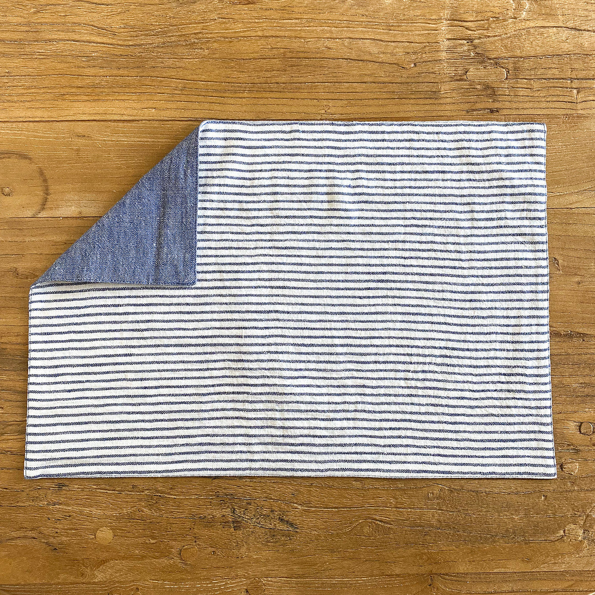 Blue Reversible Linen Placemat - Set of 6