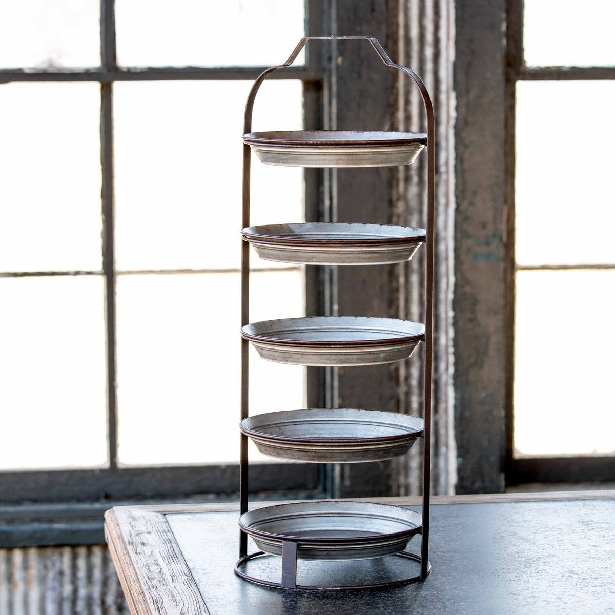 5-Tier Pie Pan Display Rack