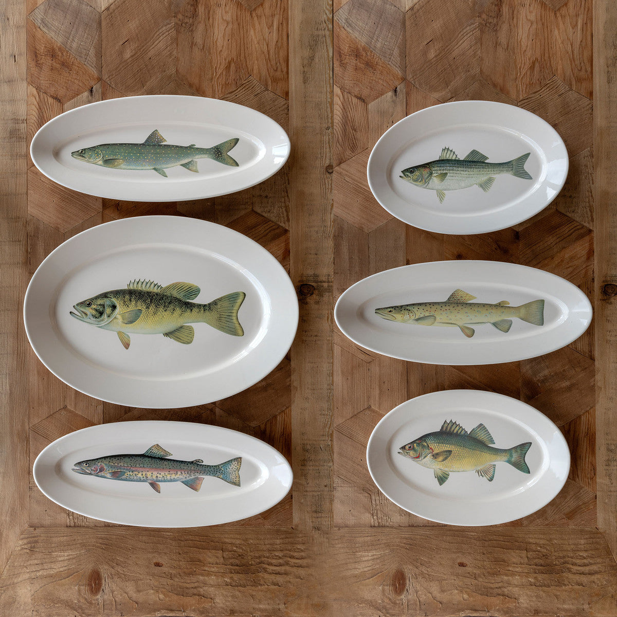 Collected Fish Platters, Set of 6