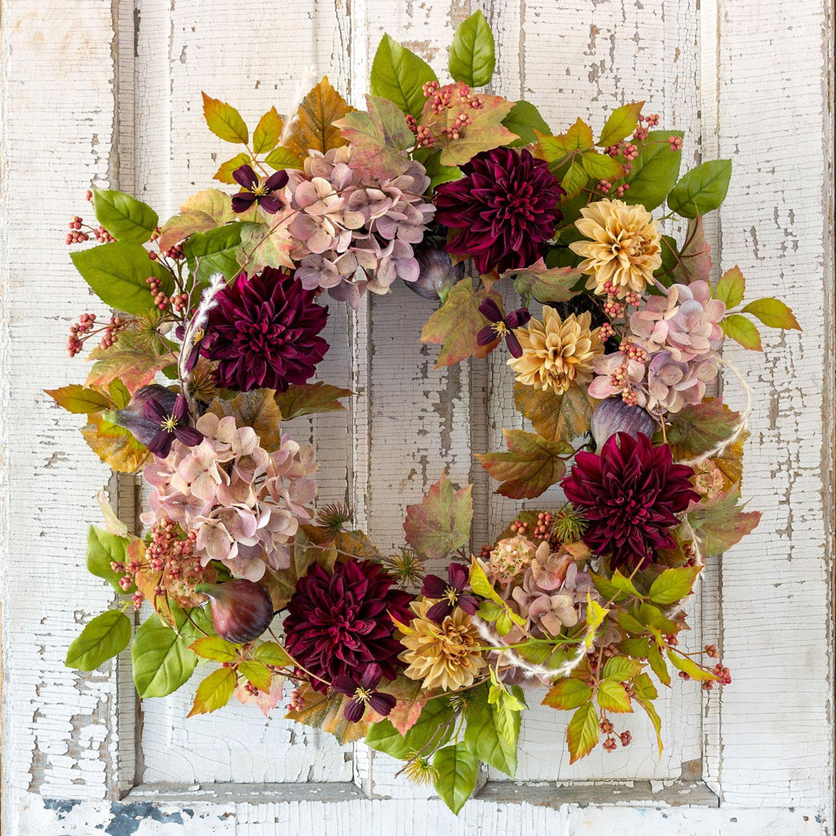 Old Flower Market Botanical Wreath