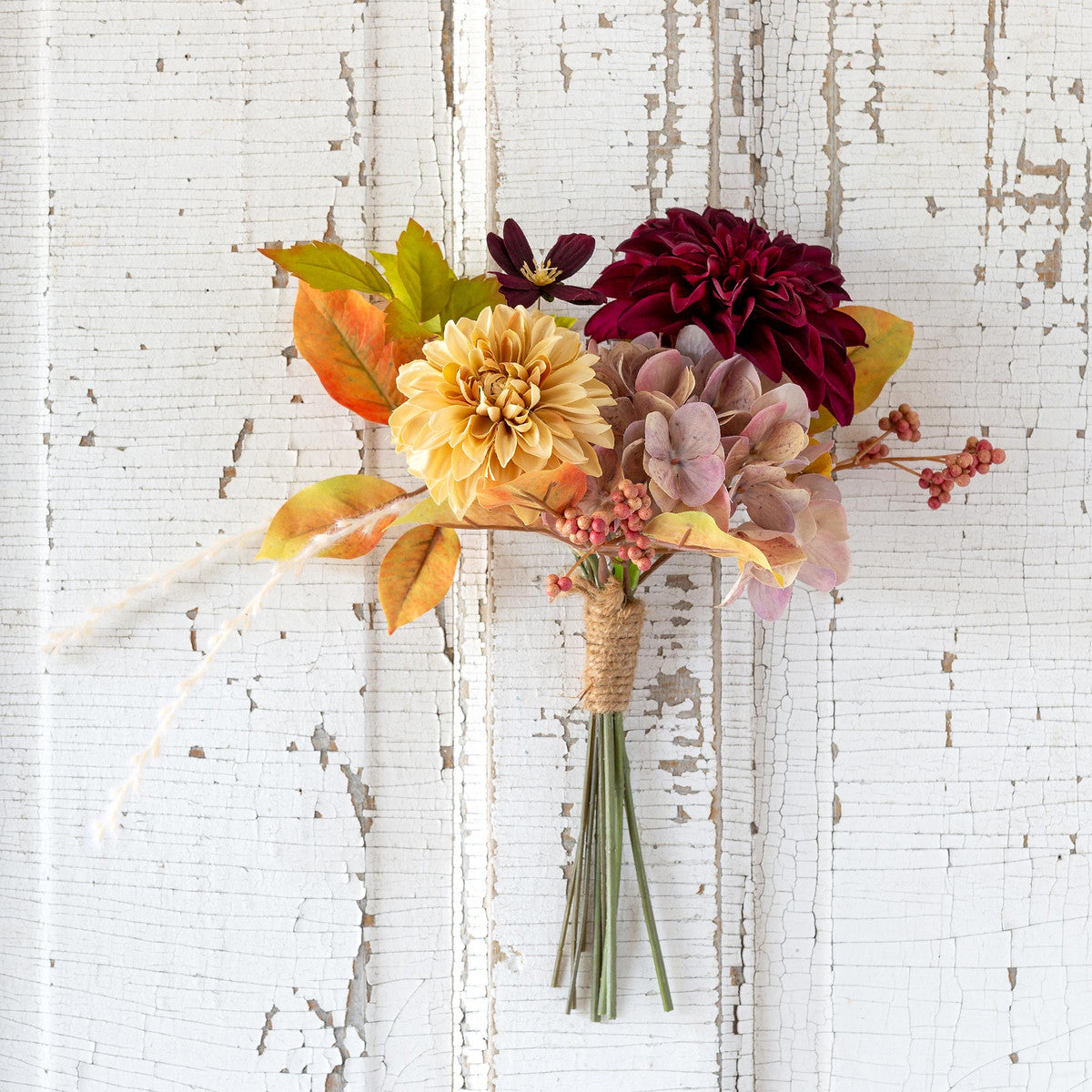 Dahlia And Hydrangea Market Bouquet - Set of 6