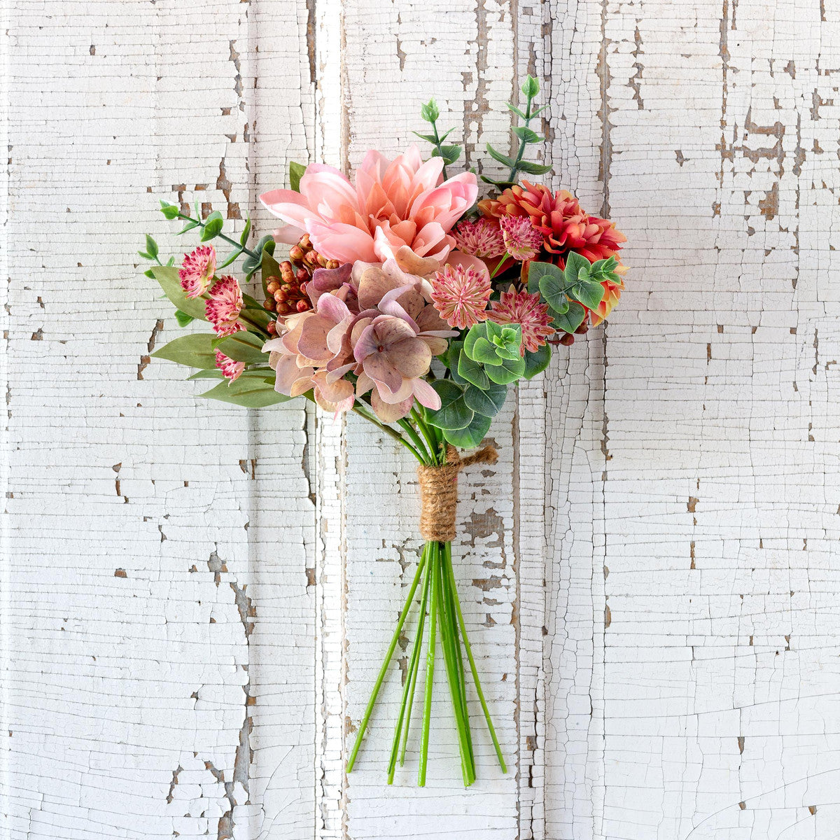 Dahlia And Eucalyptus Market Bouquet - Set of 6