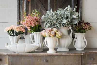 Vintage-Style Flower Vase Collection - Set of 4