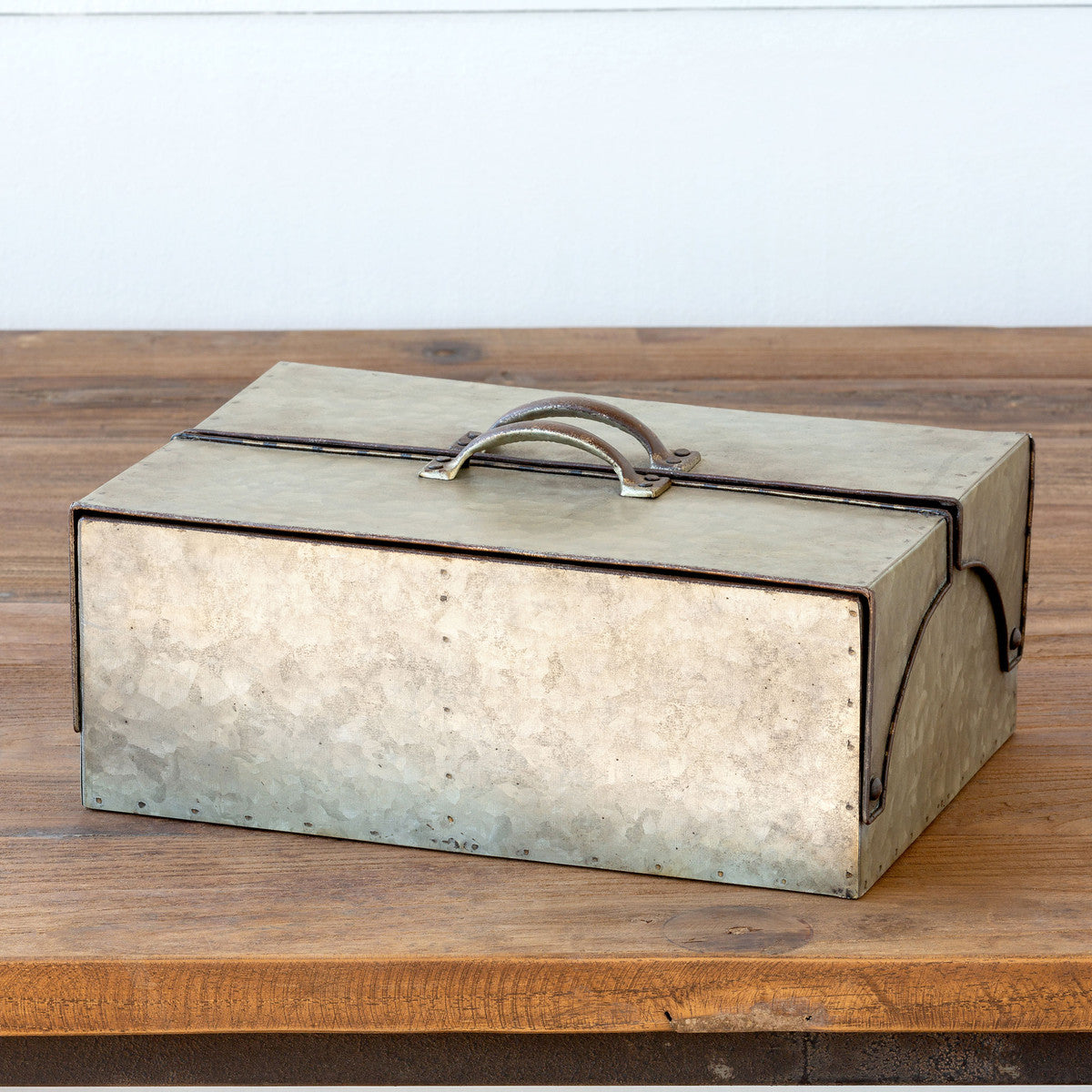 Galvanized Metal Keepsake Box
