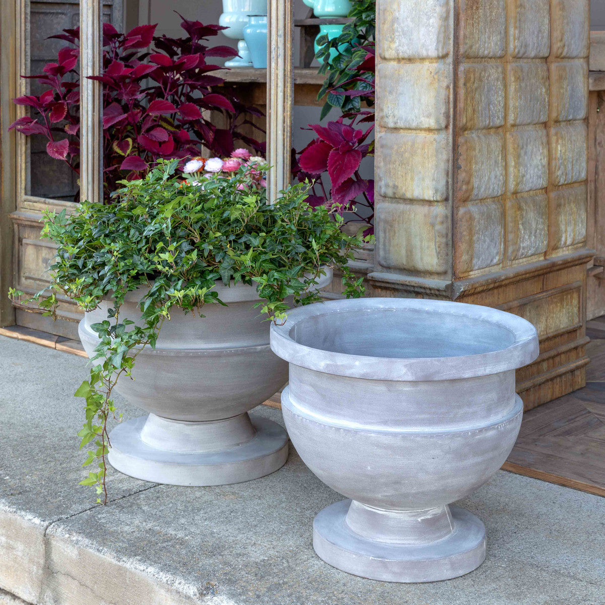 Metal Prairie House Planters, Set of 2