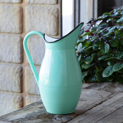 Vintage Inspired Tall Metal Pitcher
