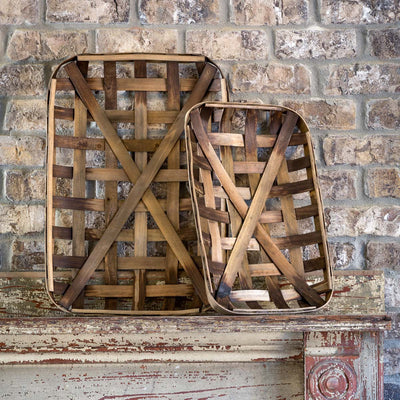 Set of 2 Tobacco Baskets
