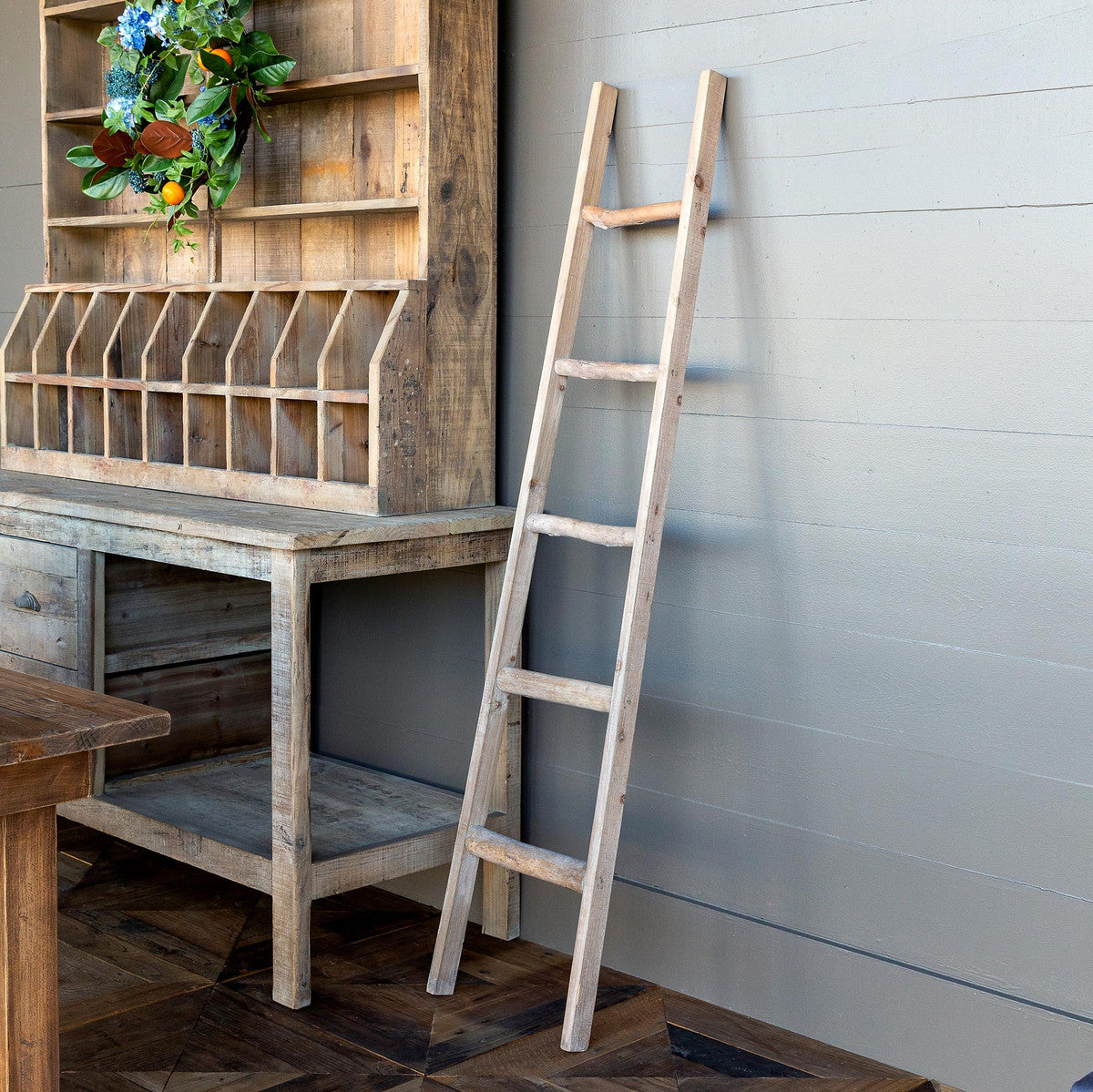 Primitive Wooden Display Ladder