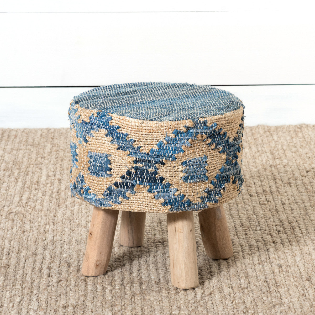 Hemp and Recycled Denim Stool