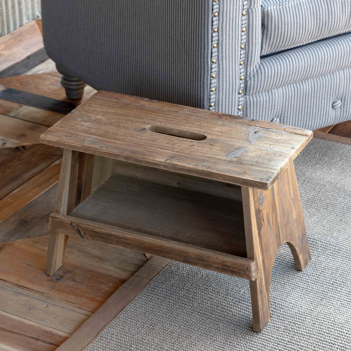 Wooden Rectangular Garden Stool