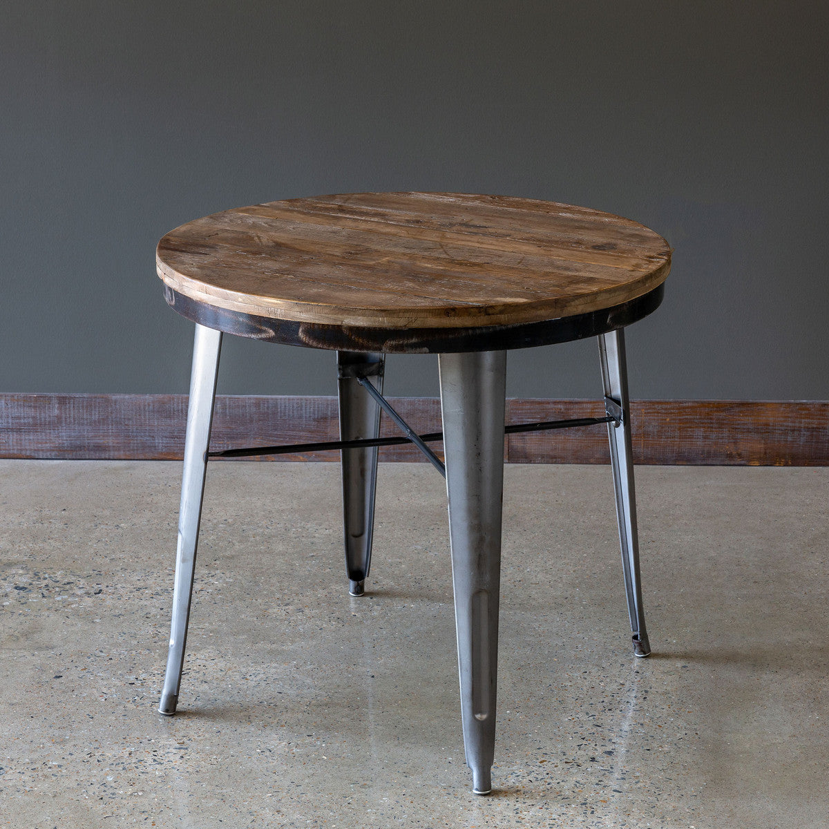 Industrial Round Bistro Table