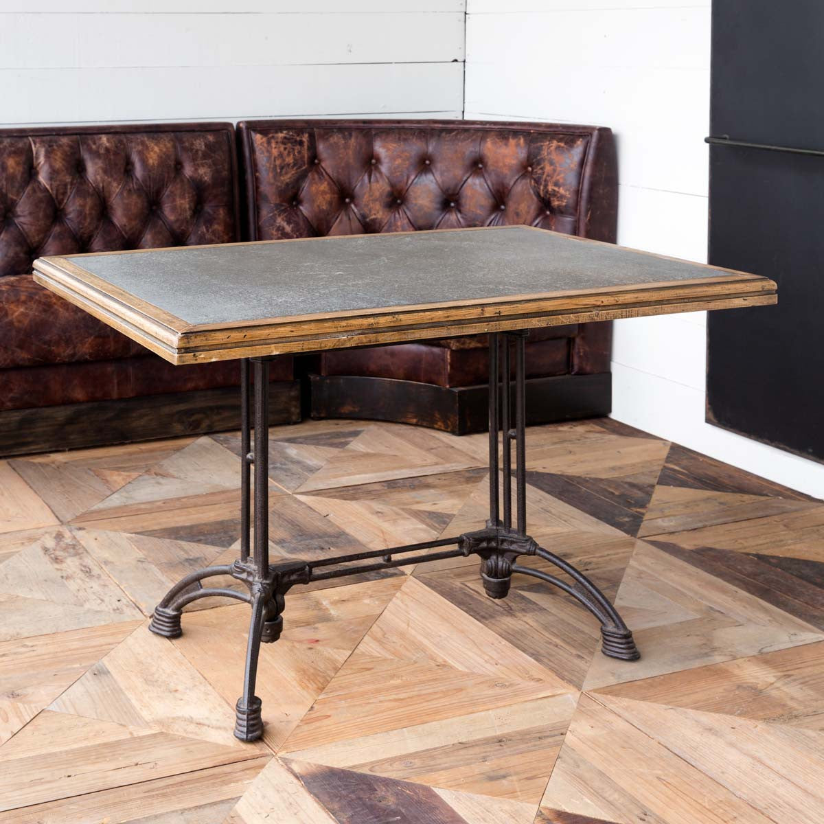 Zinc Top Café Table