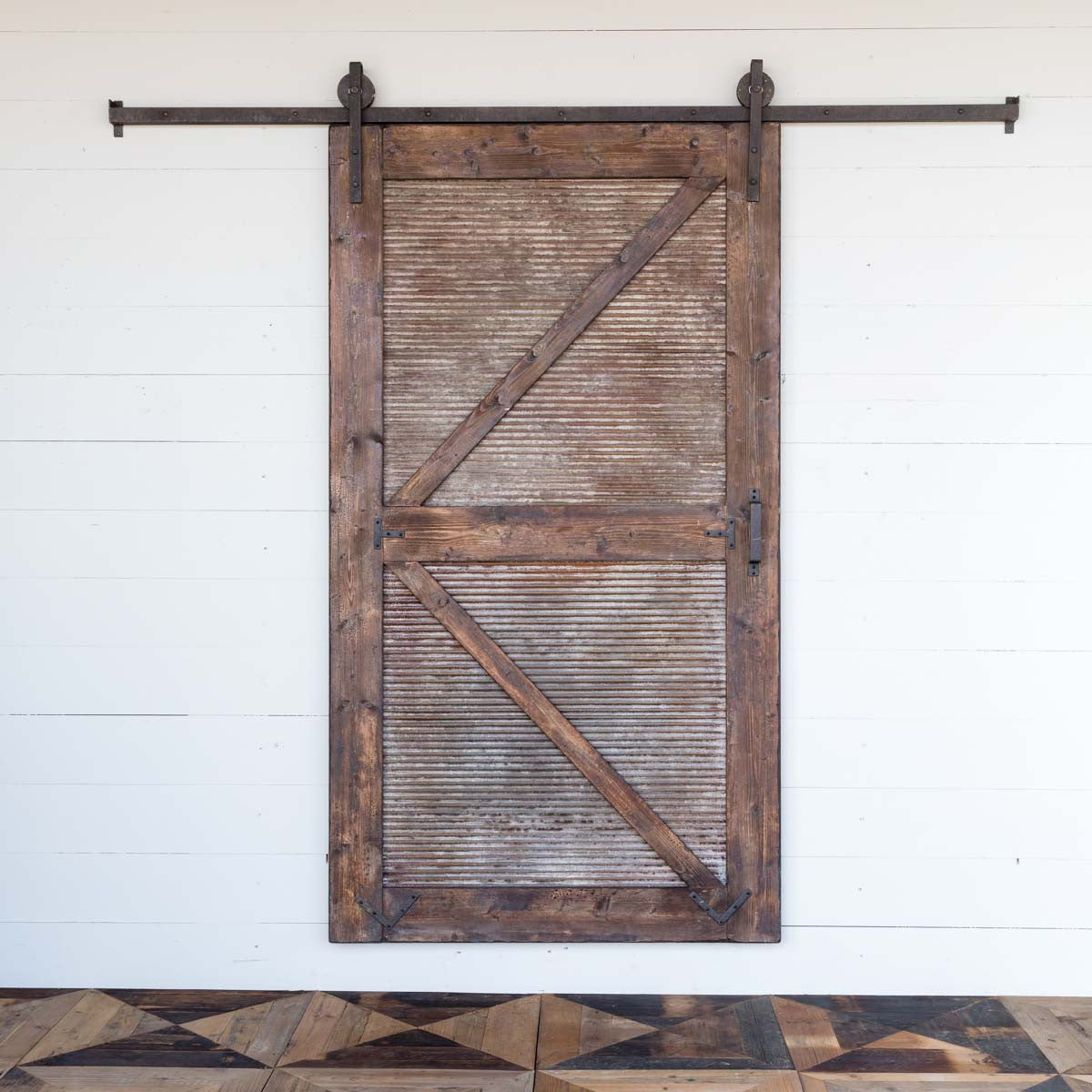 Sliding Barn Door with Rail Hardware