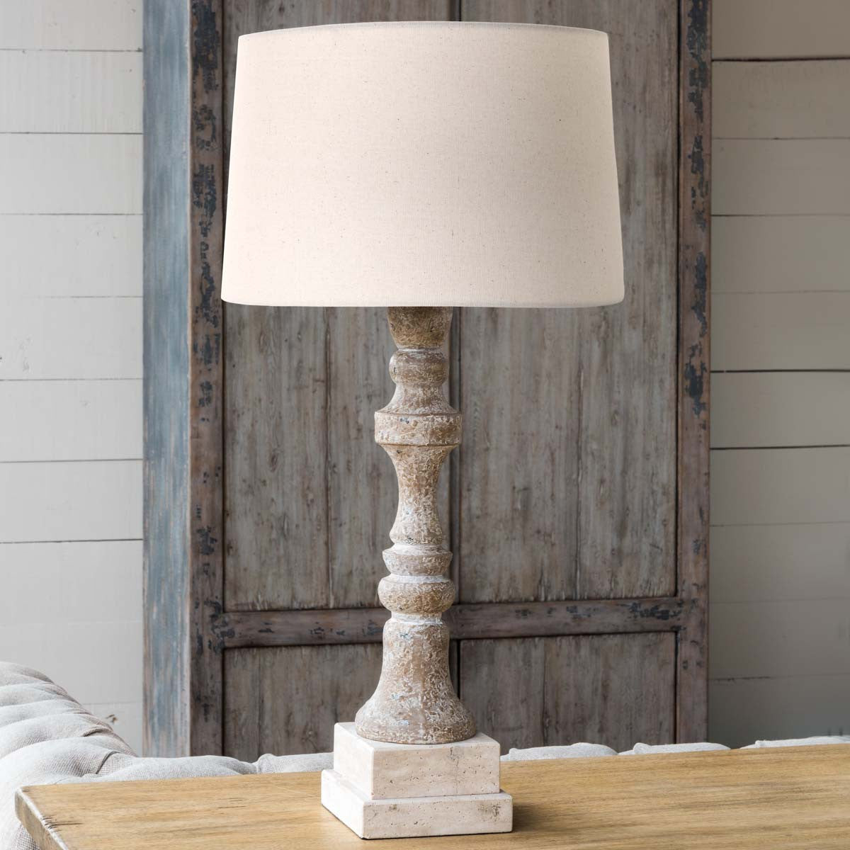 Spindle & Stone Lamp