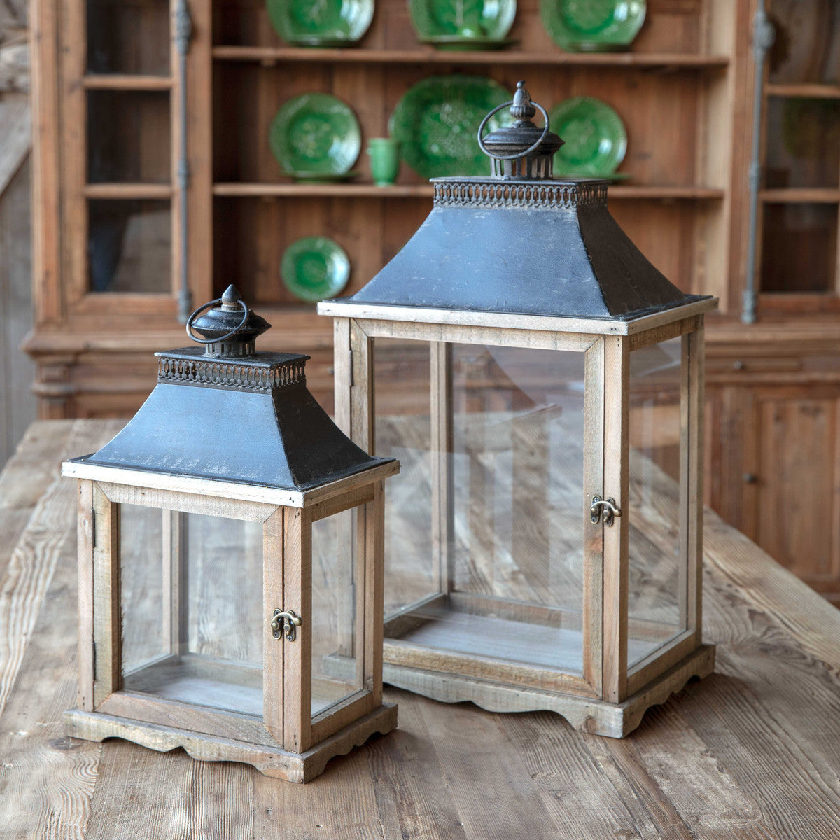 Display Box Lanterns, Set of 2