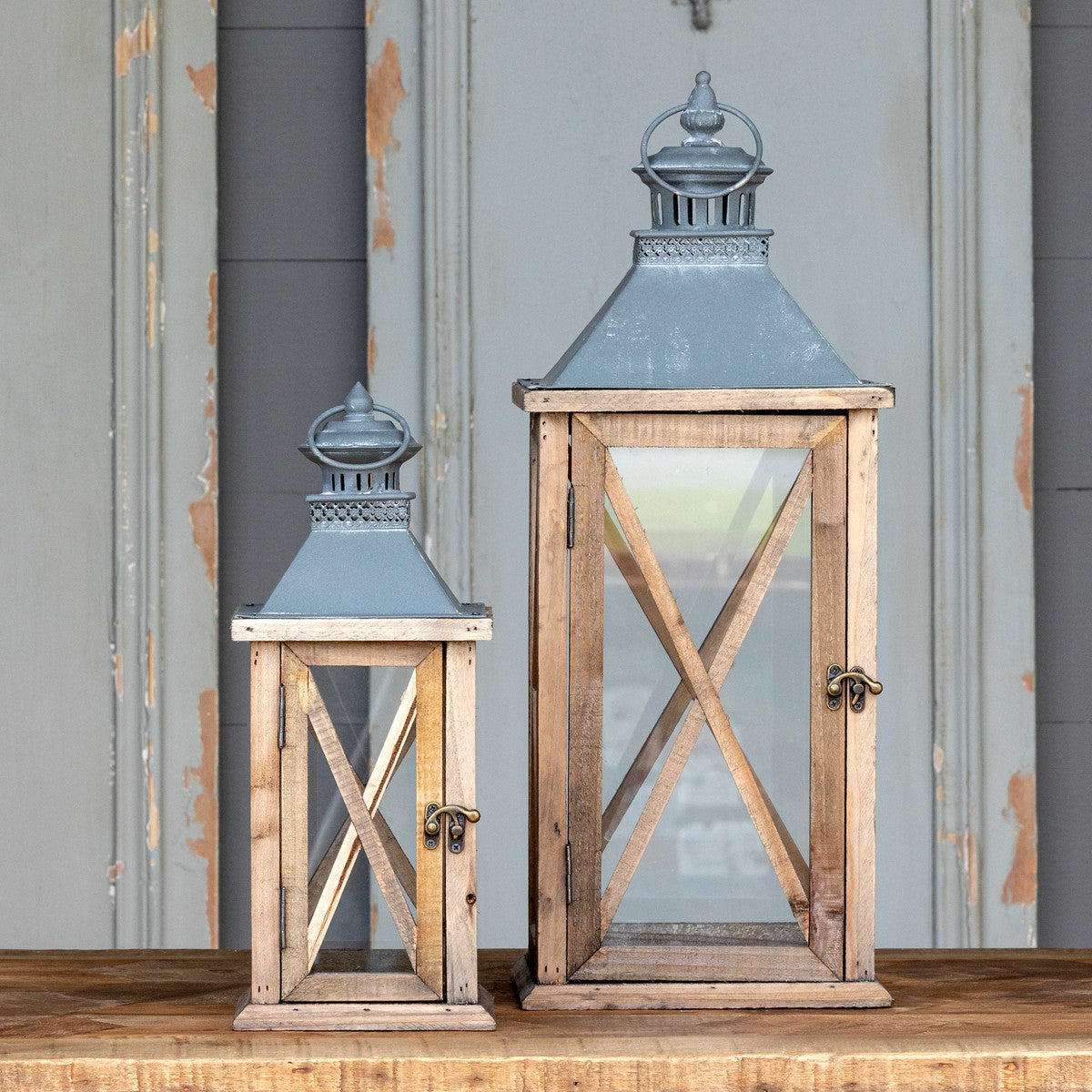 Portico Lanterns, Set of 2