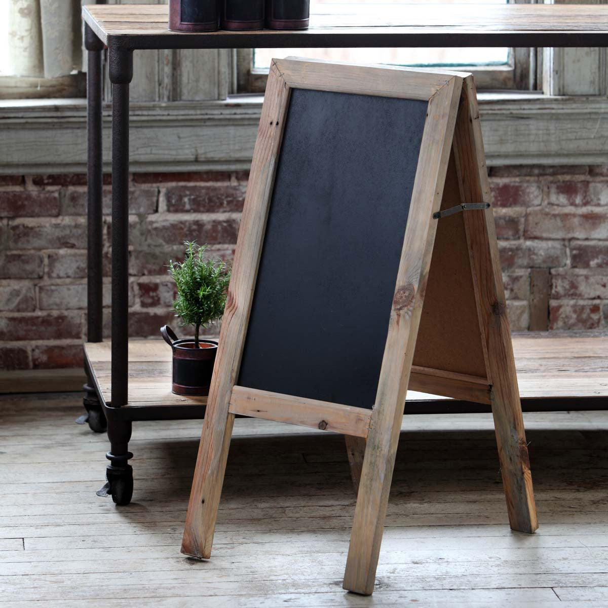 Two-Sided Sidewalk Chalkboard