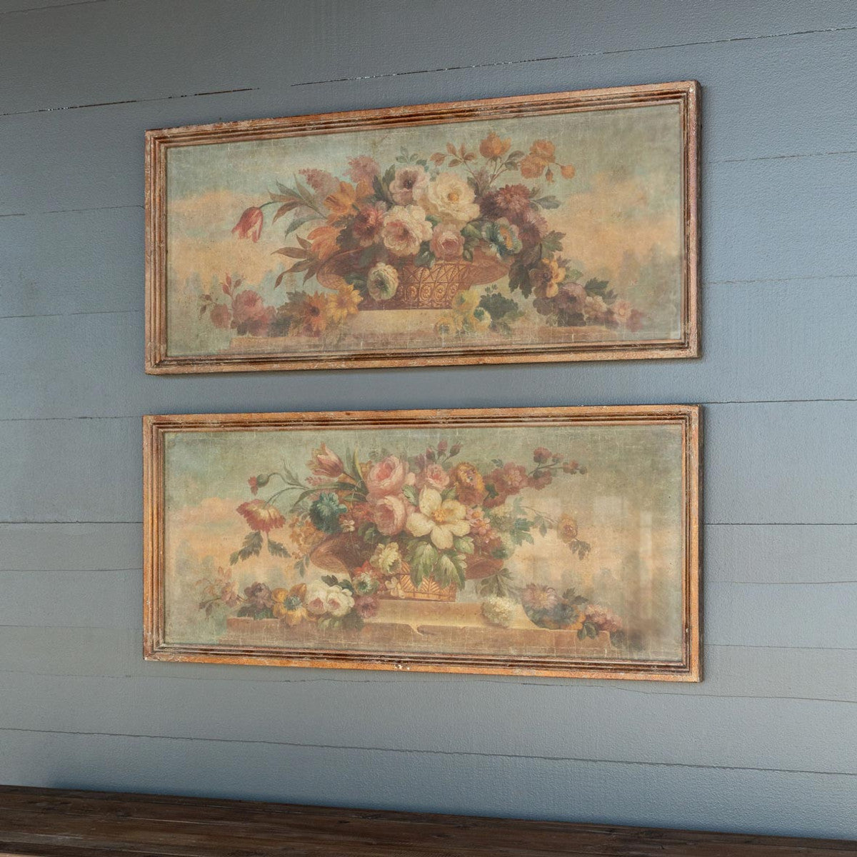 Vintage Floral Canvas Prints - Set of 2 Assorted Styles