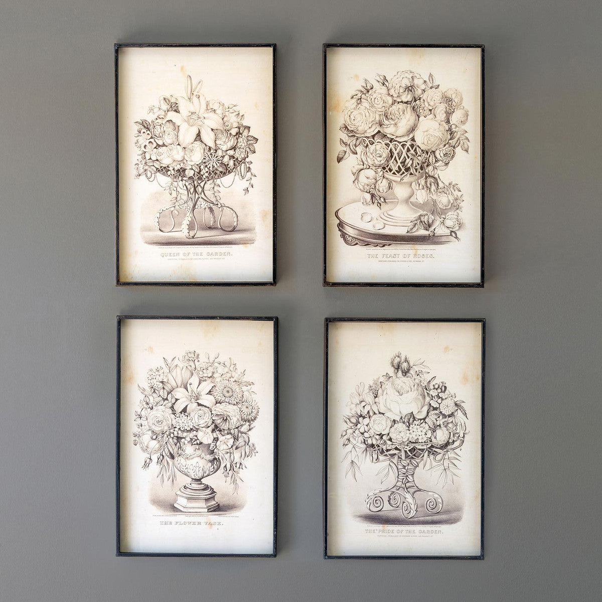 Vintage Sepia Floral Bouquet Framed Prints, 4 Assorted Styles - ETA 8/11/20