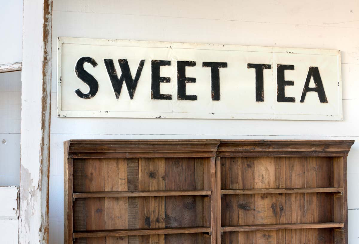 Embossed Metal Sweet Tea Sign