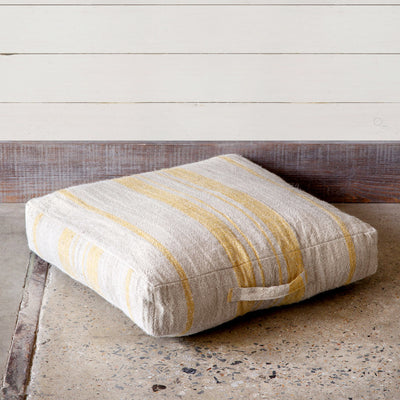 Linen Floor Cushion With Handle