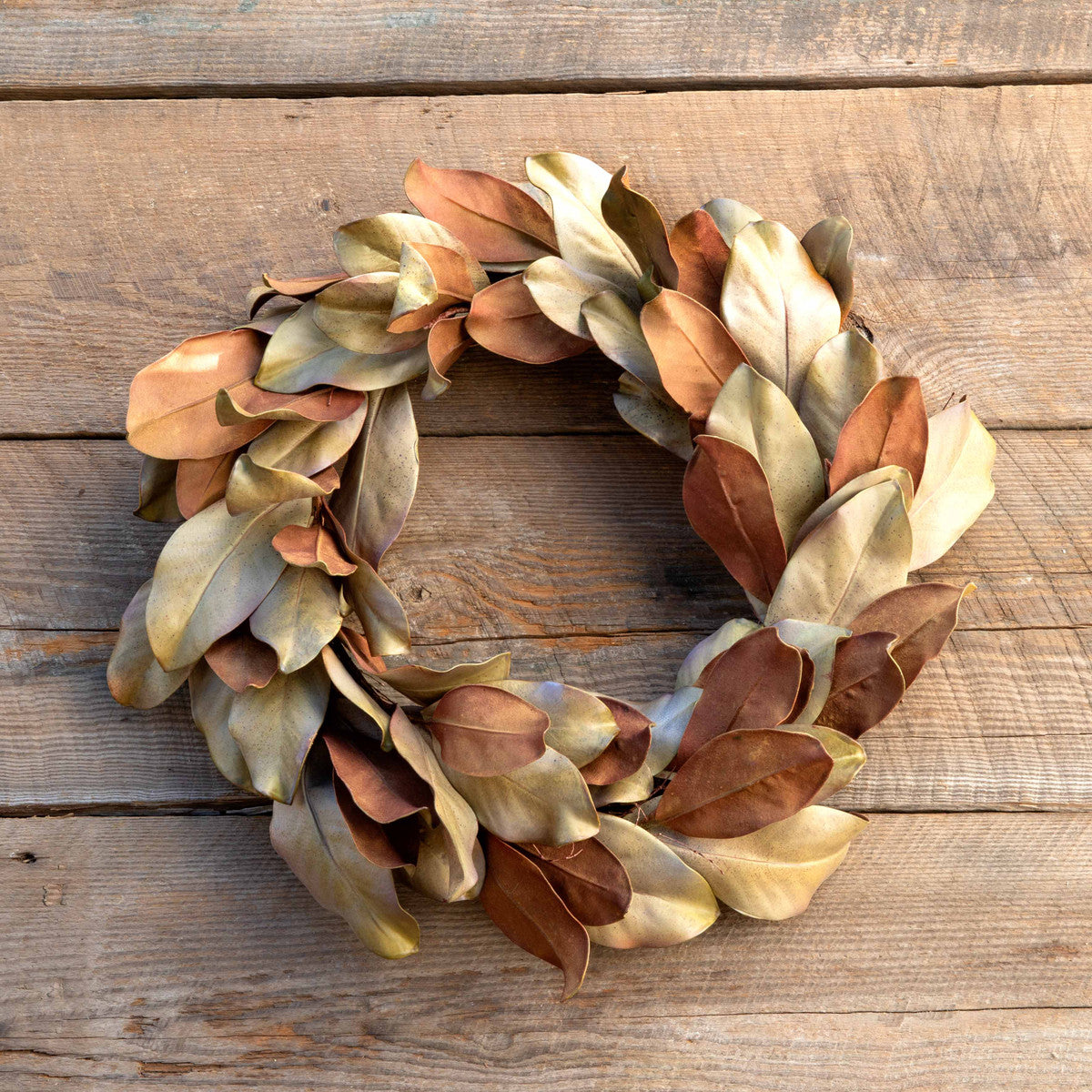 Dried-Look Magnolia Leaf Wreath