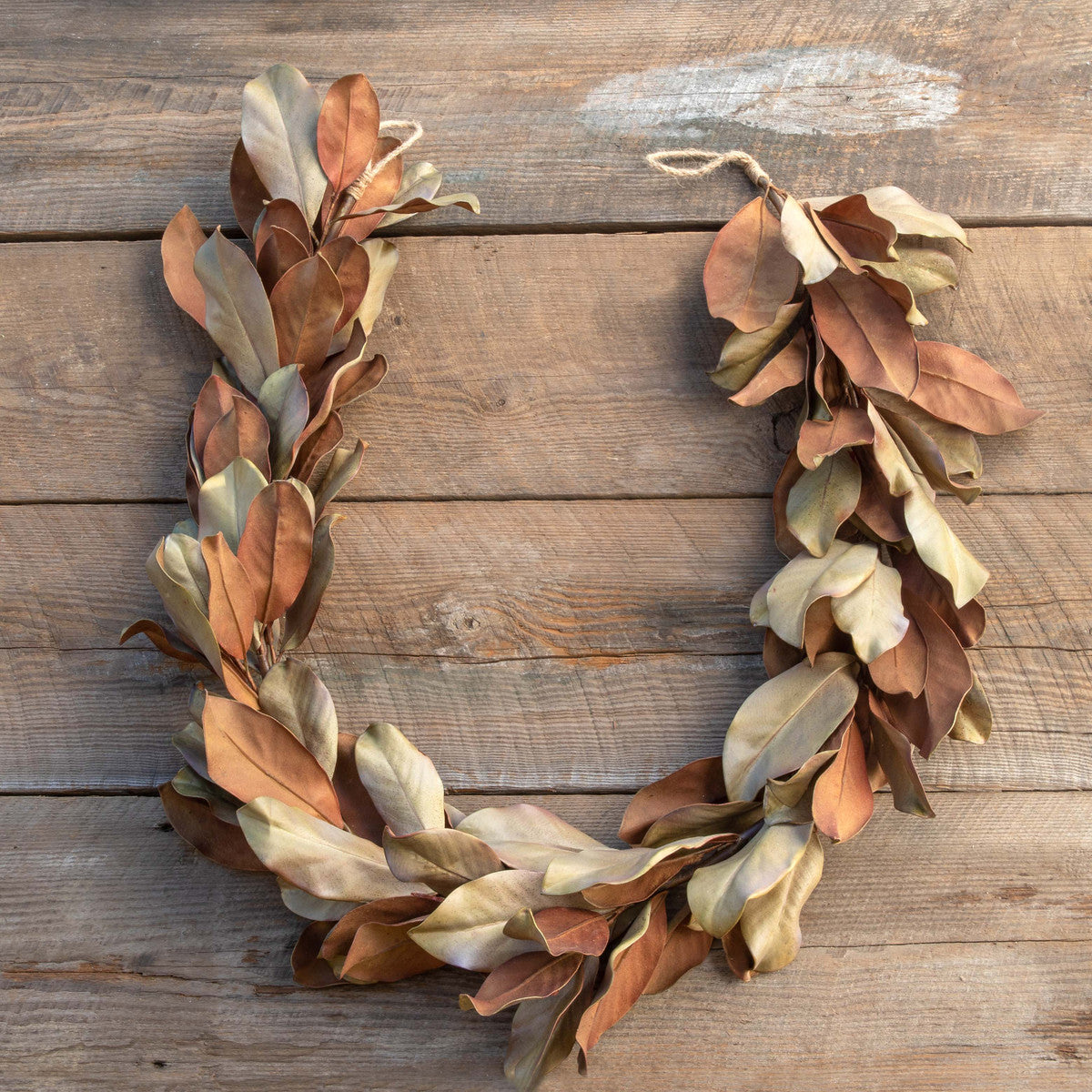 Dried-Look Magnolia Leaf Garland