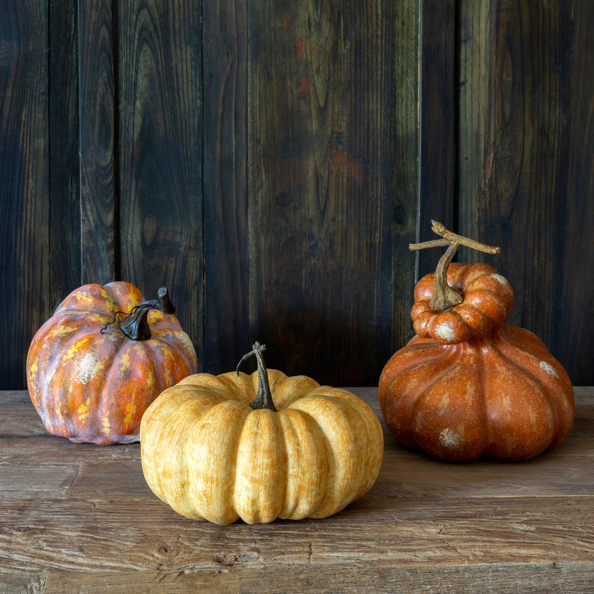 Autumn Gourds - Set of 3