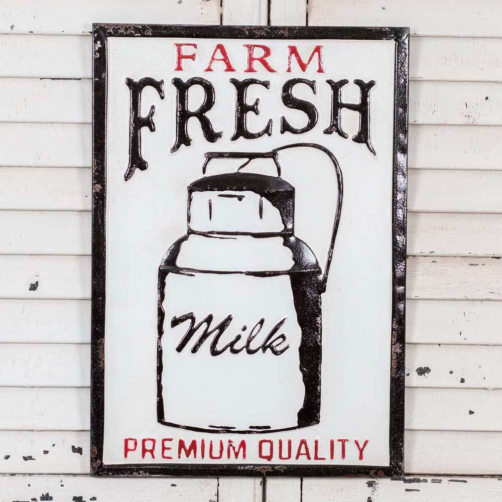 Farmhouse Milk Wall Sign
